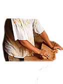 Kneading by beat